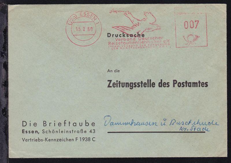 Essen AFS (22a) ESSEN 15.2.60 Verband Deutscher Reisetaubenliebhaber e.V.