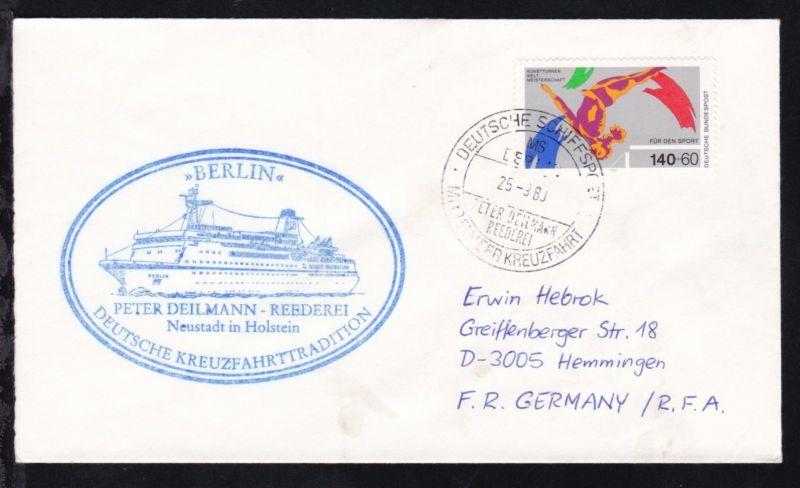 DEUTSCHE SCHIFFSPOST MS BERLIN PETER DEILMANN REEDEREI MITTELMEERKREUZFAHRT