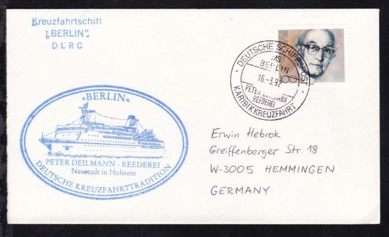 DEUTSCHE SCHIFFSPOST MS BERLIN PETER DEILMANN REEDEREI KARIBIKKREUZFAHRT