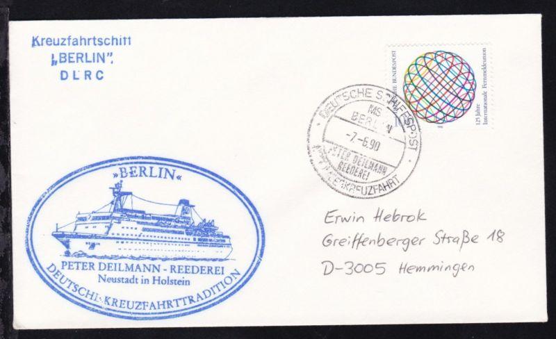 DEUTSCHE SCHIFFSPOST MS BERLIN PETER DEILMANN REEDEREI NORDMEERKREUZFAHRT