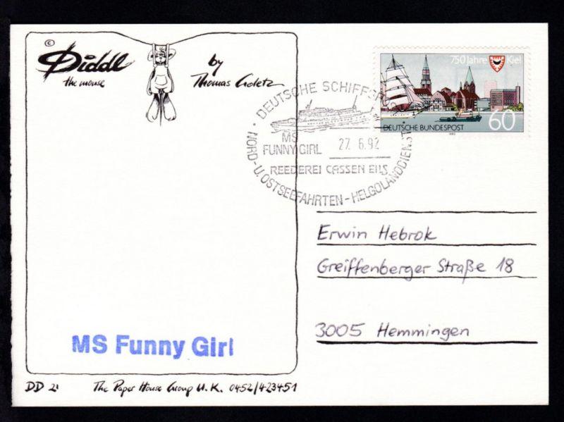 DEUTSCHE SCHIFSPOST MS FUNNY GIRL REEDEREI CASSEN EILS NORD- U. OSTSEEFAHRTEN-
