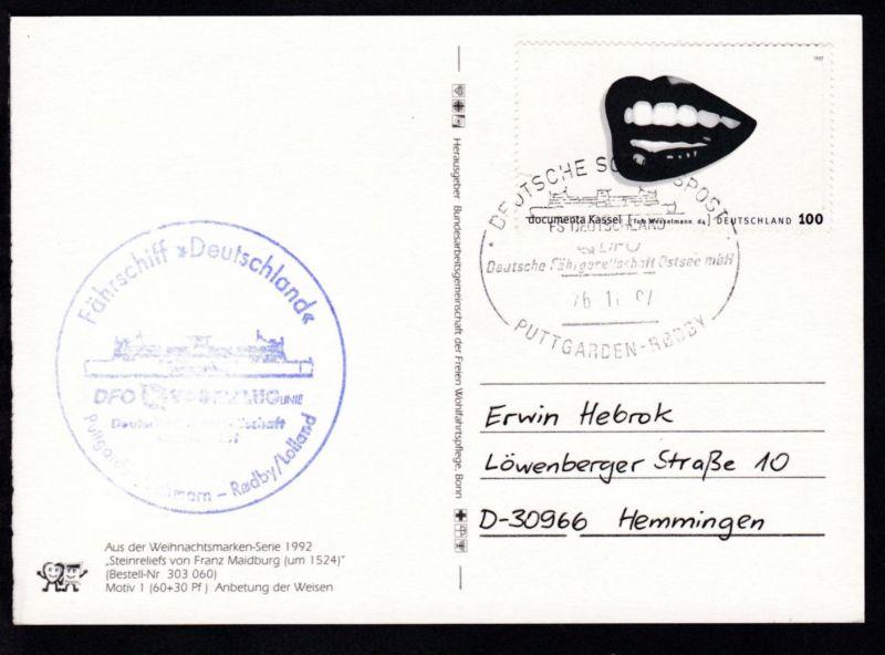 DEUTSCHE SCHIFFSPOST FS DEUTSCHLAND DFO Deutsche Fährgesellschaft Ostsee