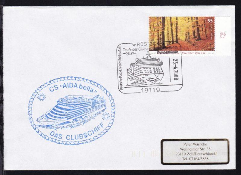 ROSTOCK 18119 Deutsche Post Erlebnis Briefmarken Taufe des Clubschiffs
