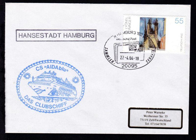 HAMBURG 102 20095 Deutsche Post SAMMLER-SERVICE 27.4.04 + R1 HANSESRADT HAMBURG