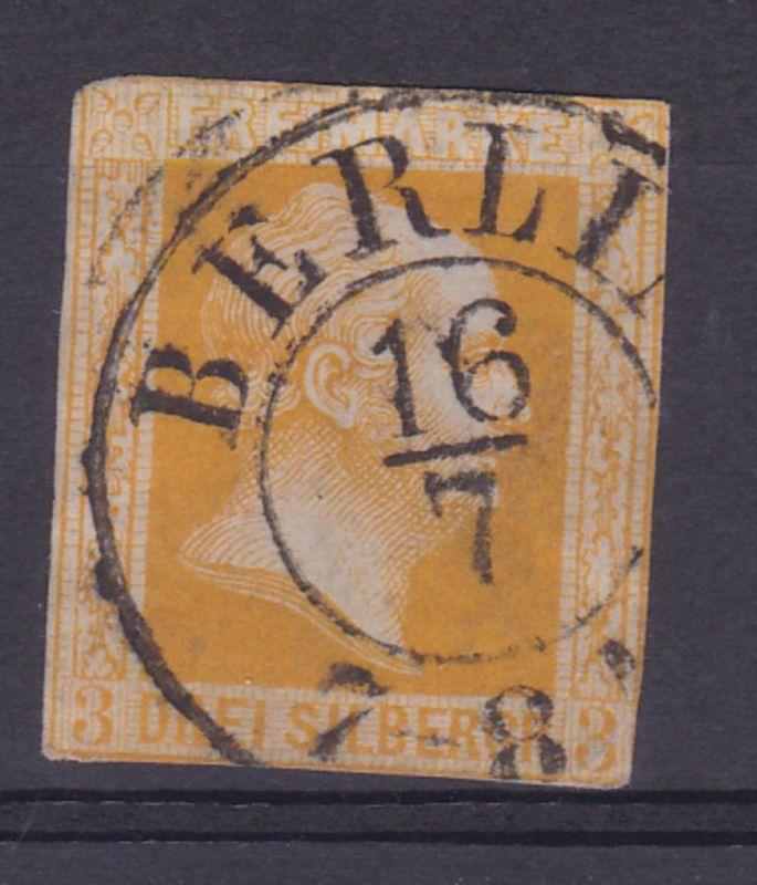 König Friedrich Wilhelm IV 3 Sgr. mit K2 BERLIN 16/7