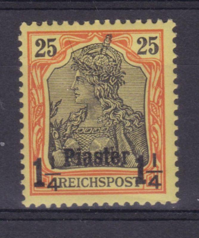 Aufdruck 1¼  Piaster auf 25 Pfg. Germania