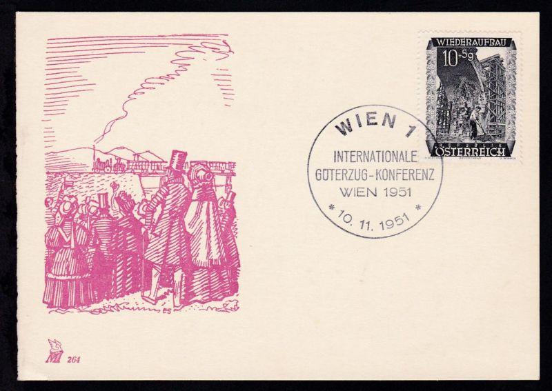 WIEN 1 INTERNATIONALE GÜTERZUG-KONFERENZ WIEN 1951 10.11.1951