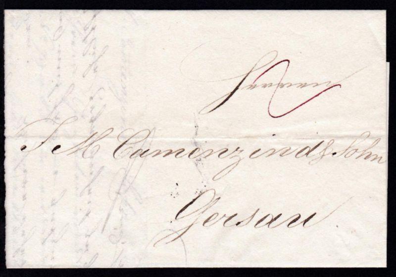 1829  Firmenbrief (Fried. Knorr & Sohn) nach Gersau