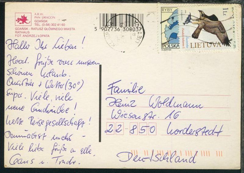 Fischadler auf CAK (Danzig) ab Klaipeda 29.5.200 nach Norderstedt