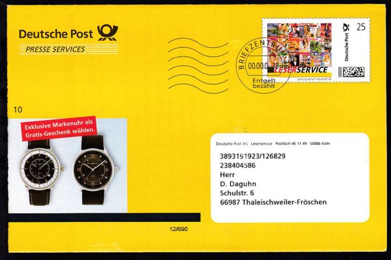 Deutsche Post Lesersercive Exklusive Markenuhr als Gratis-Geschenk wählen