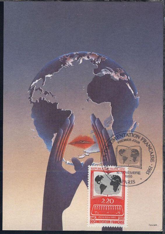 40 Jahre französisches Archiv für Zeitgeschichte auf Maximum-Karte