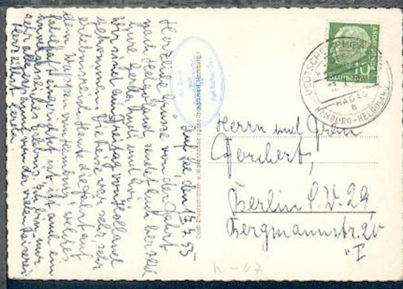 DSP HAMBURG-HELGOLAND DES Wappen von Hamburg HADAG a 17.7.55 +
