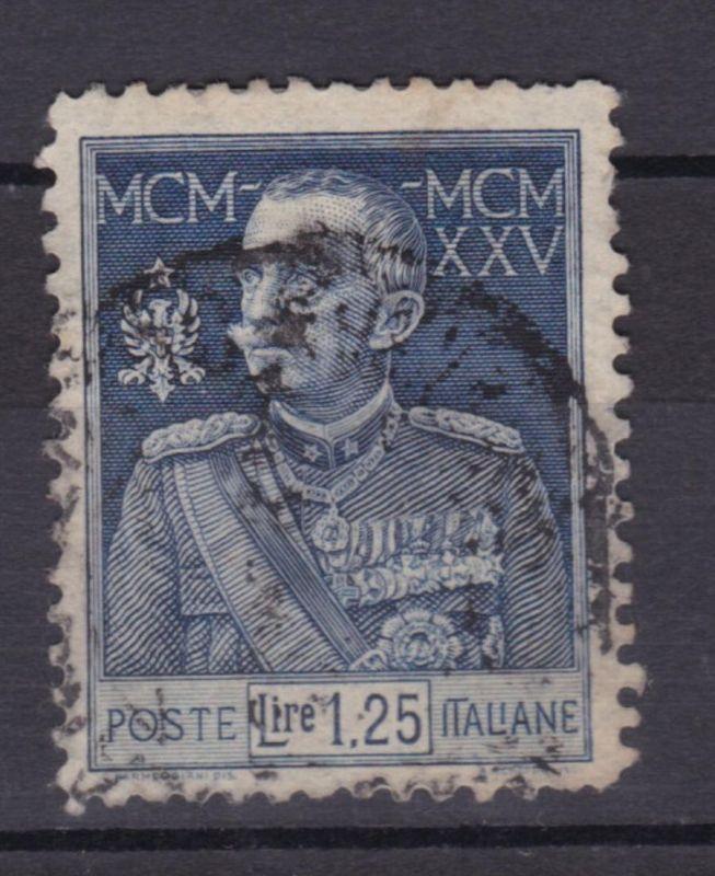 25 Jahre Regentschaft von König Viktor Emanuel III. 1.25 L. gezähnt L 11