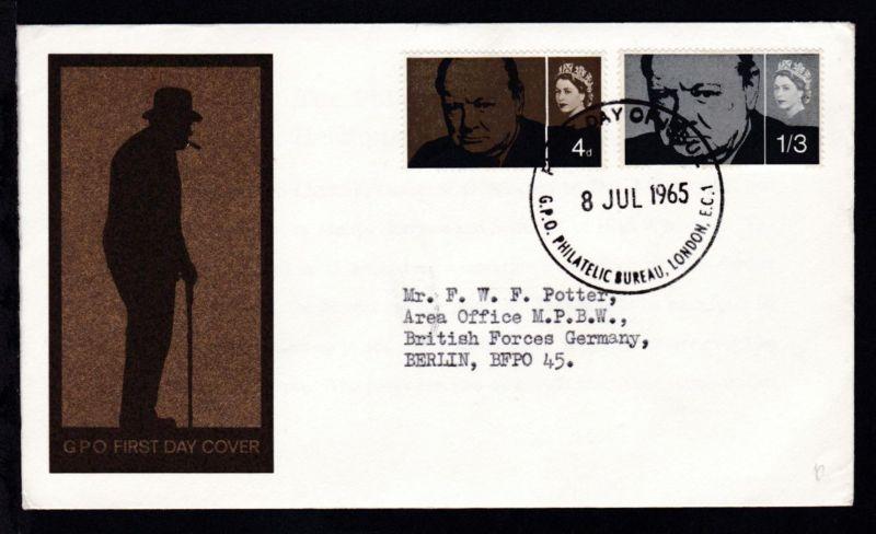 Tod von Winston Churchill auf FDC