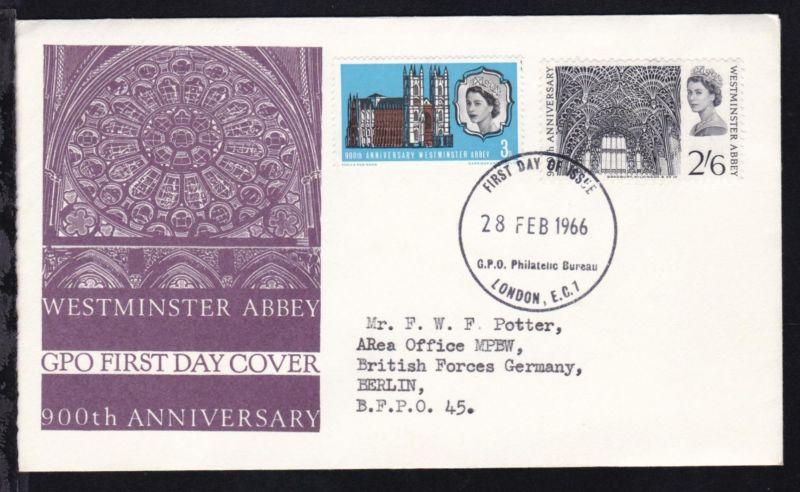 900 Jahre Westminster-Abtei auf FDC
