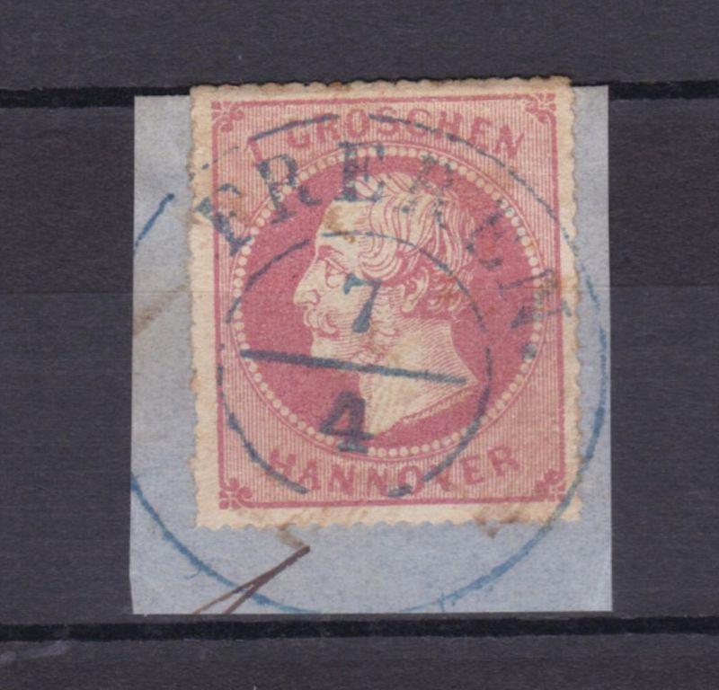 König Georg V. 1 Gr. auf kleinem Briefstück mit K2 FREREN 7.4.