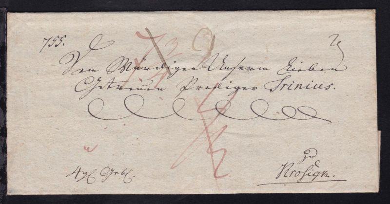 ca. 1800 Briefhülle nach Krosigk