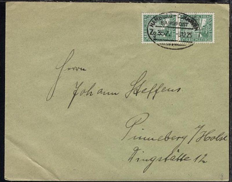 HAMBURG-CUXHAVEN Zg. 357 8.12.25 auf Bf., Bf. Eckbug