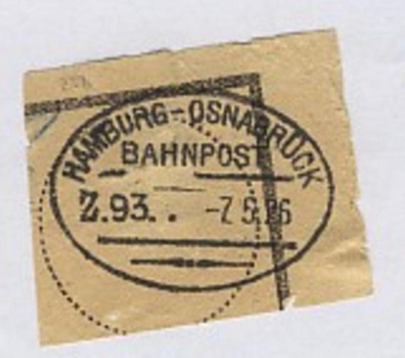 HAMBURG-OSNABRÜCK Z. 93 7.5.26 auf Bf.-Stück