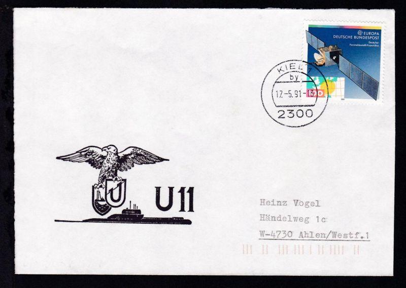 OSt. Kiel 17.5.91 + Cachet U 11 auf Brief