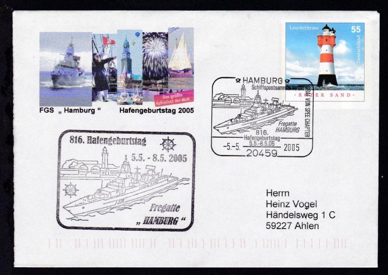 HAMBURG 20459 Schiffspostsammlerverein GRAF VON SPEE CHAPTER Fregatte Hamburg