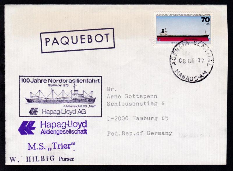 R1 PAQUEBOT + OSt. Manaus 08.06.77 + L1 M.S.