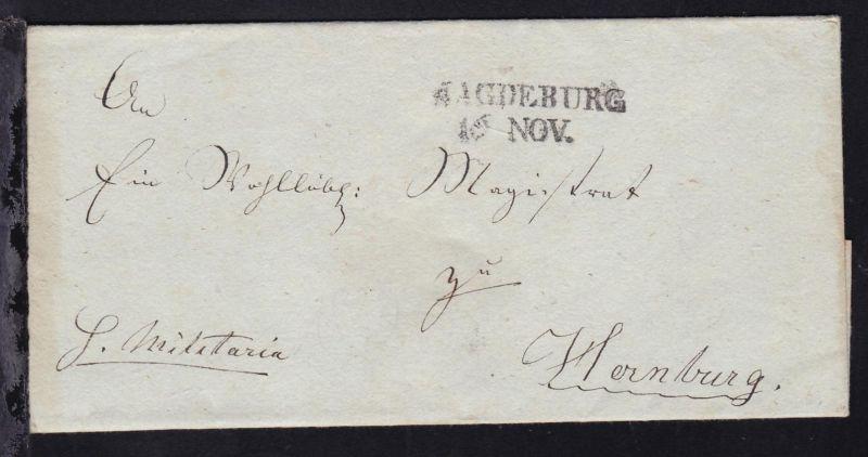 Magdeburg L2 MAGDEBURG 16 NOV. auf Briefhülle nach Hernburg