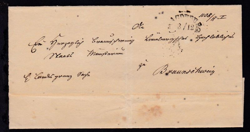 Magdeburg Segmentstempel MAGDEBURG 3/12 auf Briefhülle nach Braunschweig