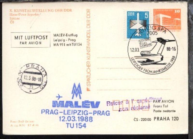 Messesonderflug Leipzig-Prag 13.3.1988