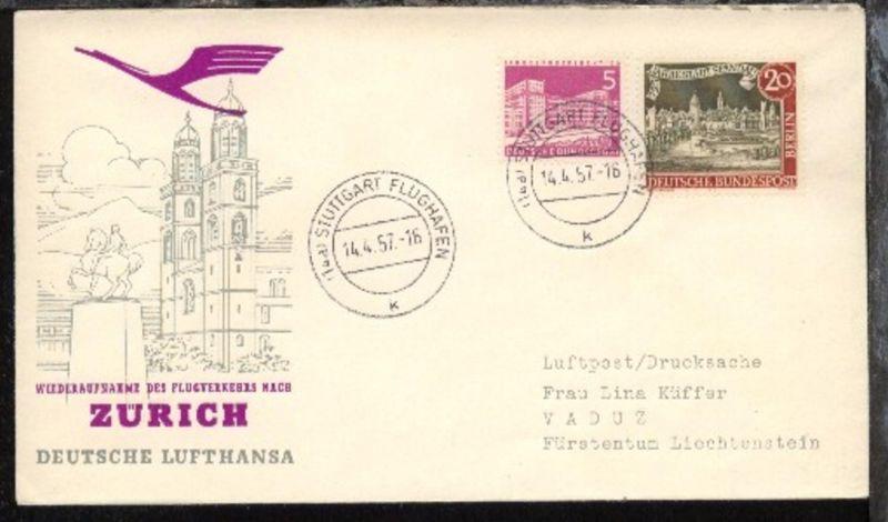 Lufthansa-Erstflug-Bf. Stuttgart-Zürich 14.4.1957