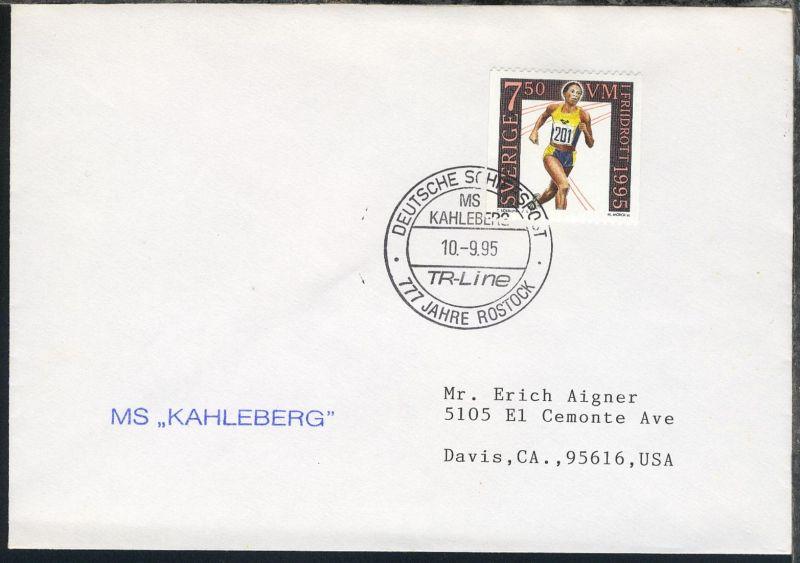 DEUTSCHE SCHIFFSPOST 777 JAHRE ROSTOCK MS KAHLEBERG TR-LINE 10.9.95 +