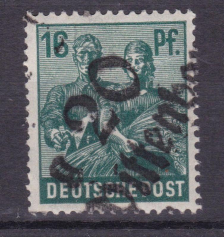 16 Pfg. mit Bezirksstempel-Aufdruck 20 Wittenberg, **