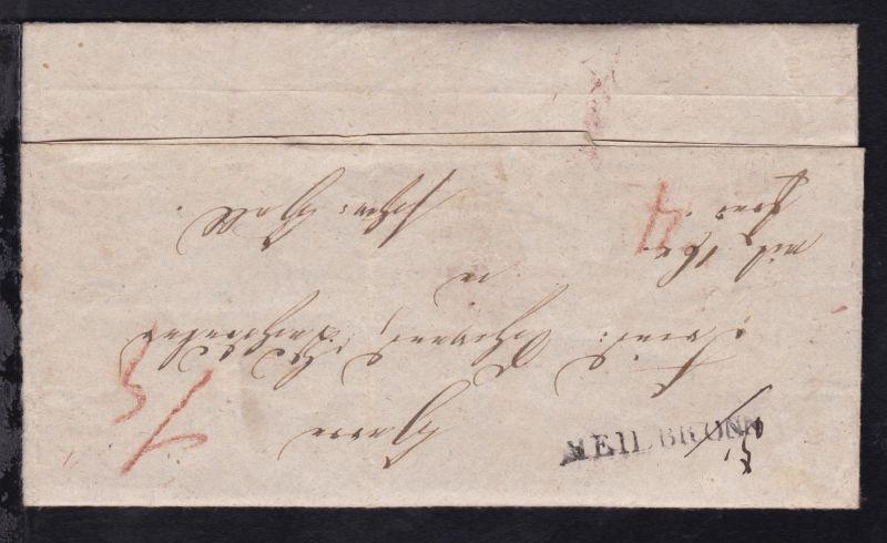 Heilbronn + Schwäbisch Hall 1844 L1 HEILBRONN auf Brief nach Schw. Hall und