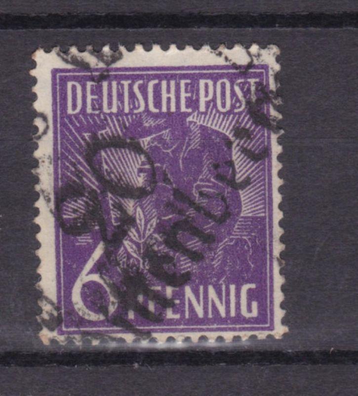6 Pfg. mit Bezirksstempel-Aufdruck 20 Wittenberg, **