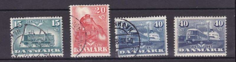 100 Jahre dänische Eisenbahn, 40 Öre zuusätzlich **