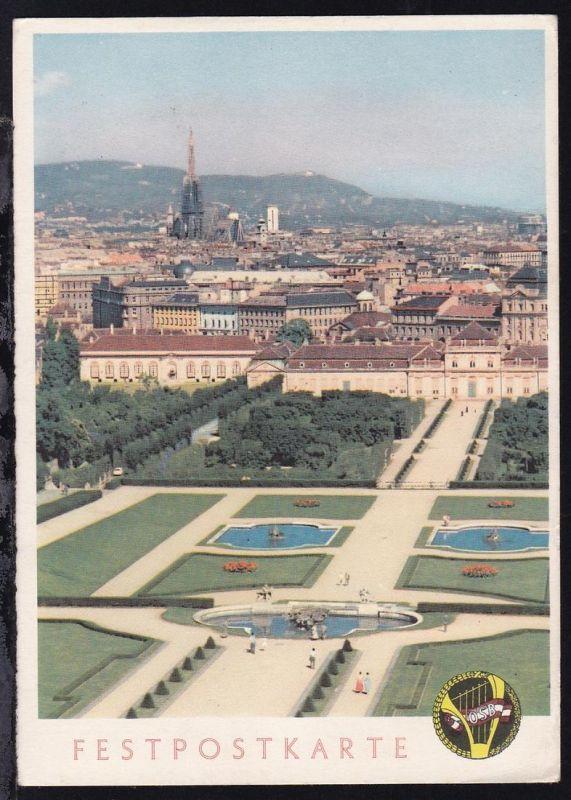 Festpostkarte des 3. österreichischen Sängerbundfestes Wien 1958, ungebraucht