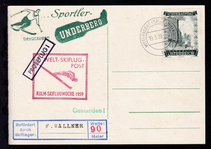 Welt-Skiflug-Post Kulm Skiflugwoche 1959