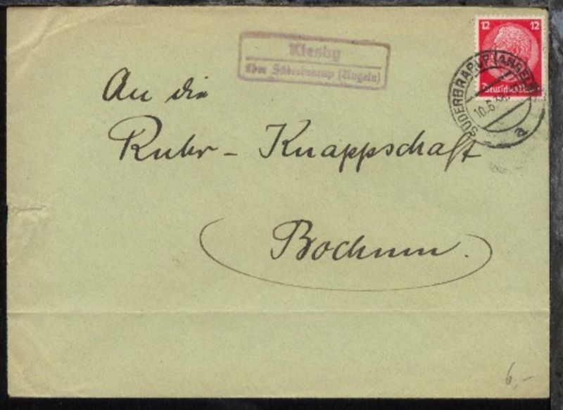 OSt. Süderbrarup 10.6.38 + R2 Kiesby über Süderbrarup (Angeln) auf Bf.,