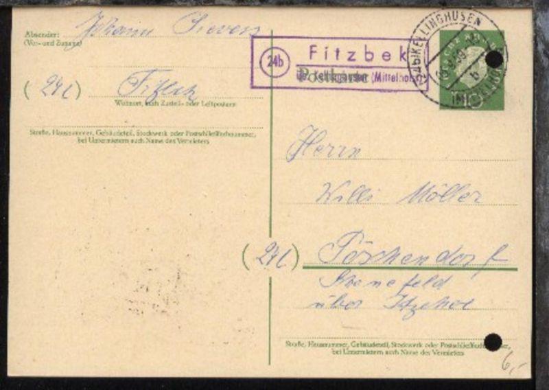 OSt. Kellinghusen 03.9.59 + R2 24b Fitzbek über Kellinghusen (Mittelholst)