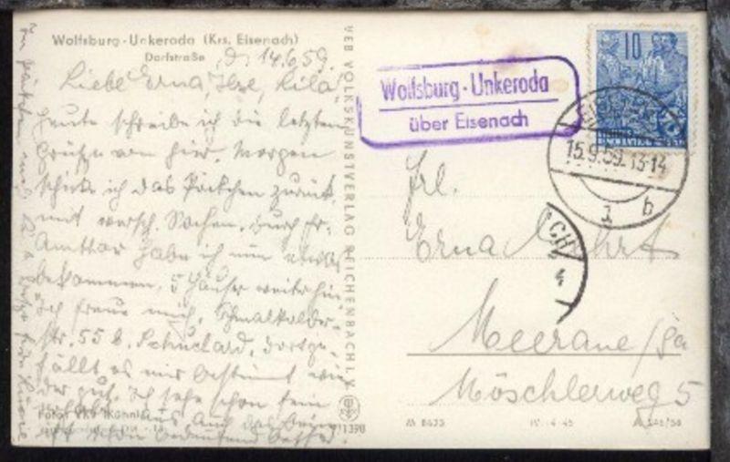 OSt. Eisenach 15.9.59 + R2 Wolfsburg-Unkeroda über Eisenach auf AK