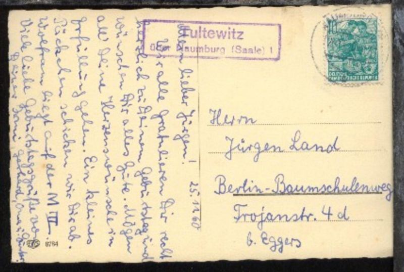 OSt. Naumburg 25.11.60 + R2 Tultewitz über Naumburg (Saale) 1