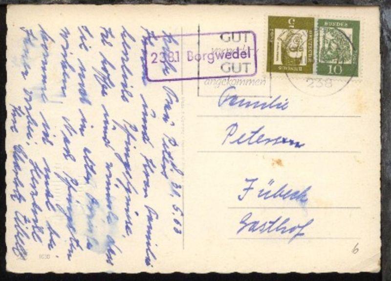 OSt. Schleswig 31.5.63 + R1 2381 Borgwedel auf Pfingst-Kte