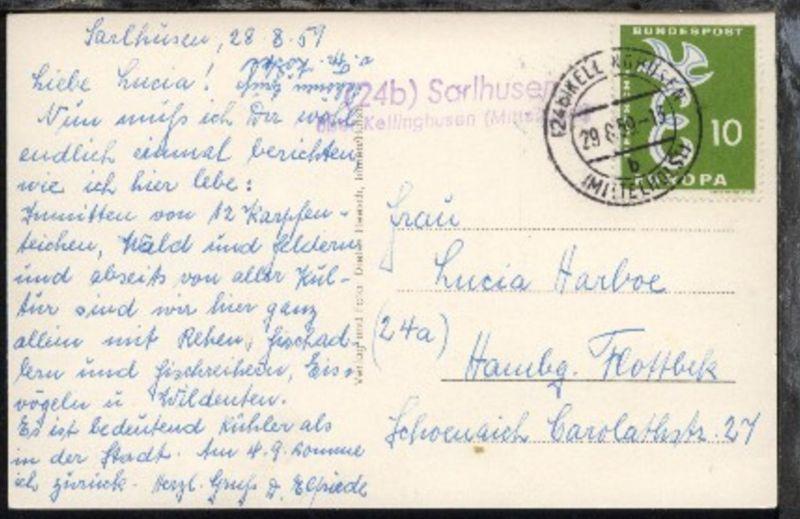 OSt. Kellinghusen 29.8.59 + L2 24b Sarlhusen über Kellinghusen (Mittelholst)