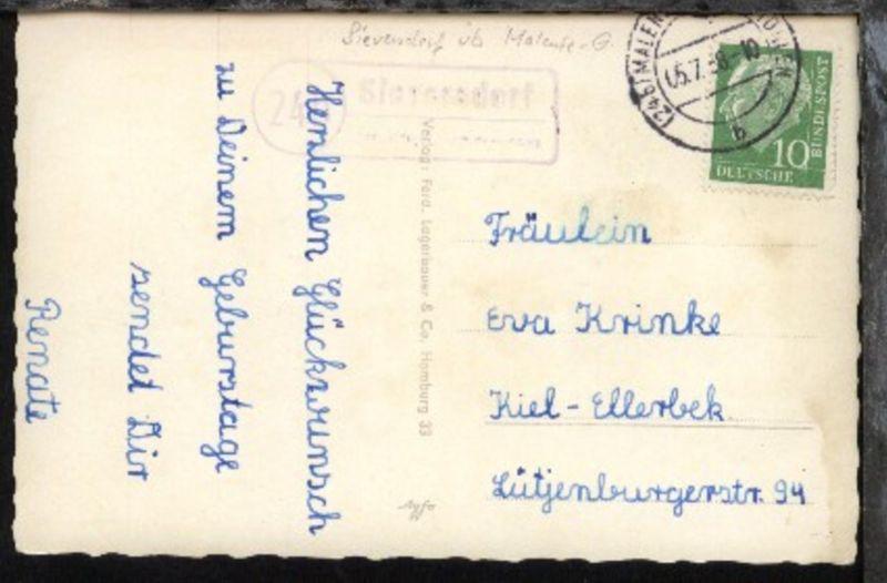 OSt. Malente-Gremsmühlen 05.7.58 + R2 24b Sieversdorf über Malente-Gremsmühlen