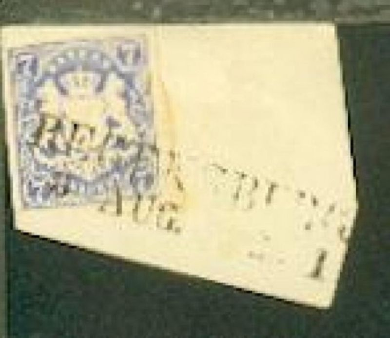 7 Kr. auf Bf.-Stück mit L2 REGENSBURG 5. AUG