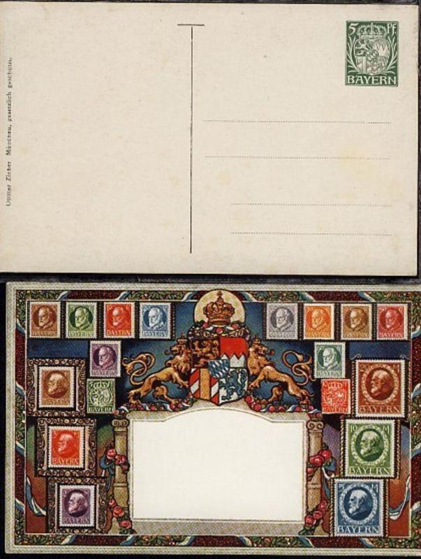 Briefmarkenabbildungen der Ludwig-Serie