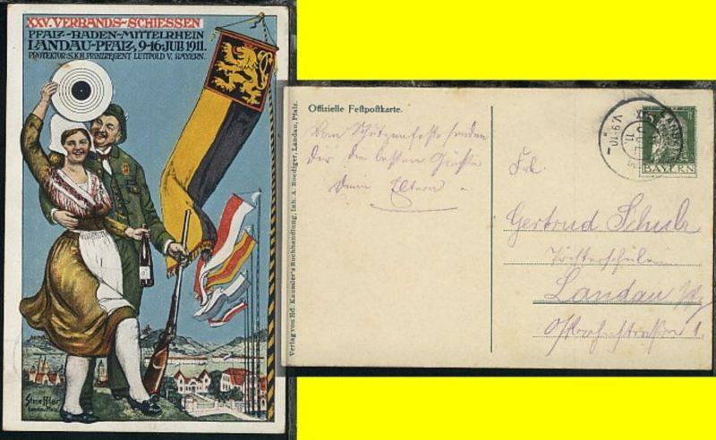 XXV. Verbandsschiessen Landau-Pfalz 1911 mit SSt.