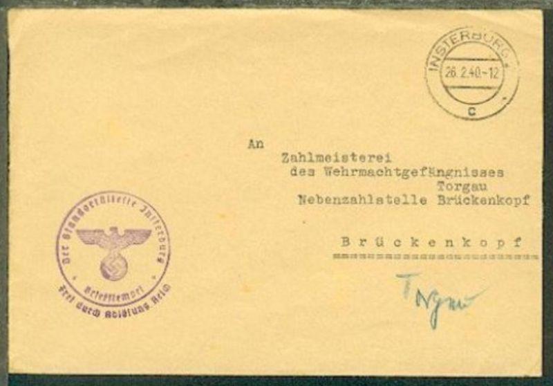 OSt. Insterburg 2 c 26.2.40 + BfSt. Der Standort älteste Insterburg auf Bf. an W