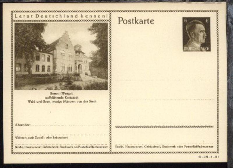 6 Pfg. Hitler mit DV 41-191-1-B1 (Bild Berent/Westpr.)