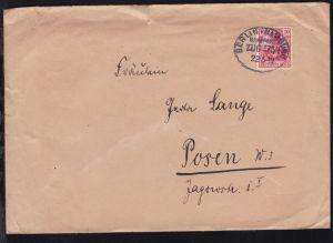 BERLIN-HAMBURG BAHNPOST ZUG 373/1 22.5.13 auf Brief, Brief oben Einriss